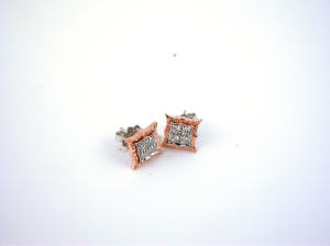 Diamonds Earrings - Orecchini Quadri
